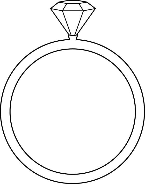 Diamond Shape Diamond Shape On Wedding Ring Coloring Pages