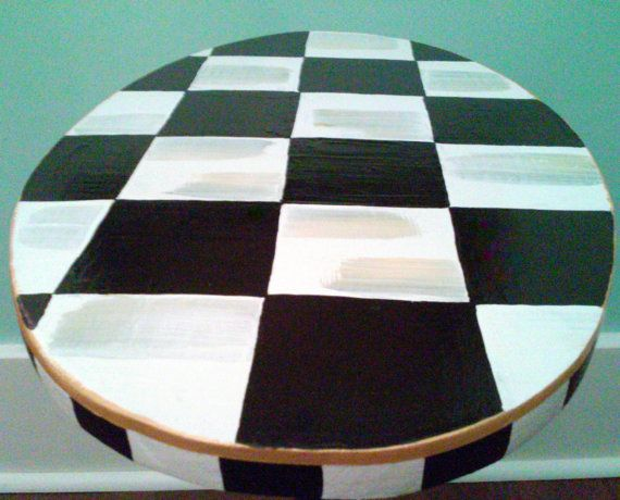 funky furniture and stuff. whimsical black u0026 white checkered nightstand oval table artistically hand painted non tassel verison tablefunky furniturenightstandhand funky furniture and stuff