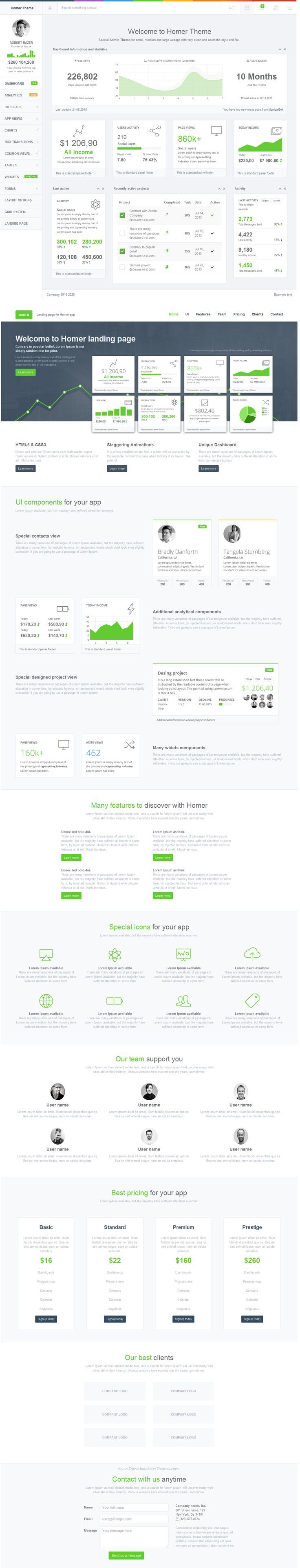 HOMER Admin Theme is a premium admin dashboard theme with flat design concept. It is fully responsive admin dashboard template built with Bootstrap 3+ Framework, HTML5 and CSS3, LESS, Media query, AngularJS, Grunt and Bower. It has a main collection of reusable UI components and integrated with latest jQuery plugins. #webdesign #admintemplate Live Preview & Download https://wrapbootstrap.com/theme/homer-responsive-admin-theme-WB055J451?ref=datasata