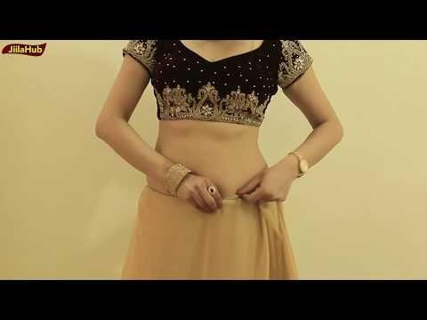 How To Wear Saree To Look Like Proper Lehenga Style | Wedding Saree Drape Style - YouTube