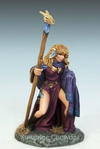 Name: Female Elven Mage with Staff. DARK SWORD MINIATURES. Dark Sword Miniatures. Cast in easy to paint pewter. Unpainted Pewter. Some assembly may be required. Number: DSM-1182. ITEM CONDITION. | eBay!