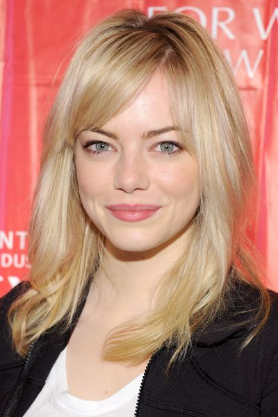 Pretty Hairstyles for Square Faces: Emma Stone