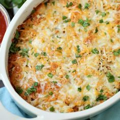 This Weight Watchers friendly Chicken Taco Casserole will hit the spot. Great for potlucks.