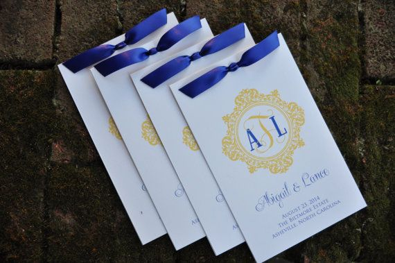 100 Vintage Multi Page Wedding Programs