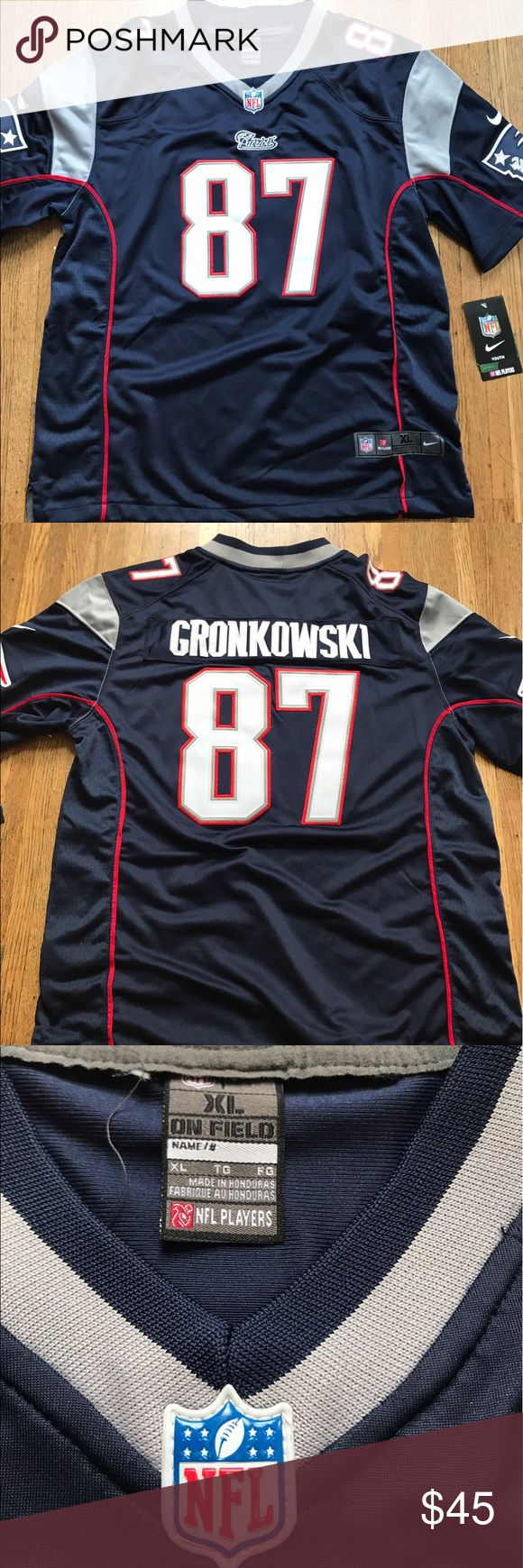 NWT patriots Gronkowski jersey NWT patriots Gronkowski jersey- size is boys XL but would fit a woman's Small as well. Nike Tops