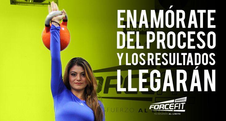 #Frases #Motivacion #Crossfit #Fitness #Quotes #Forcefit Enamórate del proceso y los resultados llegarán.
