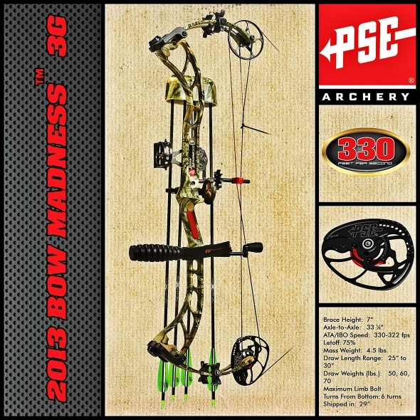 Ushering in a New Generation of Performance with the 2013 PSE Bow Madness 3G! #archery #bows @psearchery