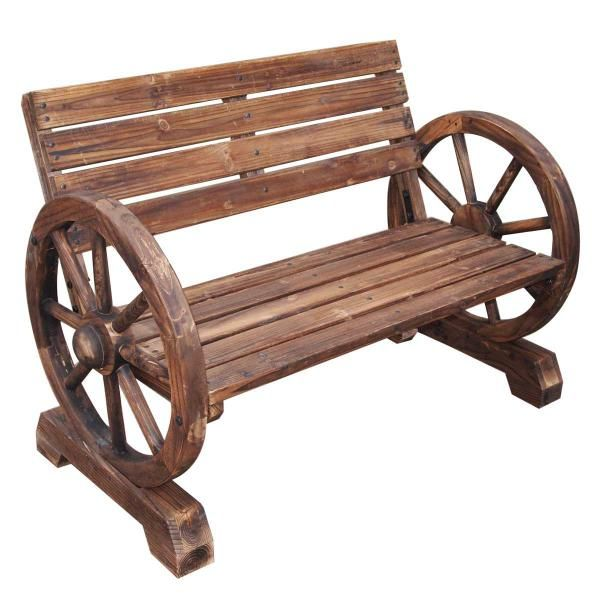 Wagon Wheel Garden Bench 79 Backyard Ideas Pinterest