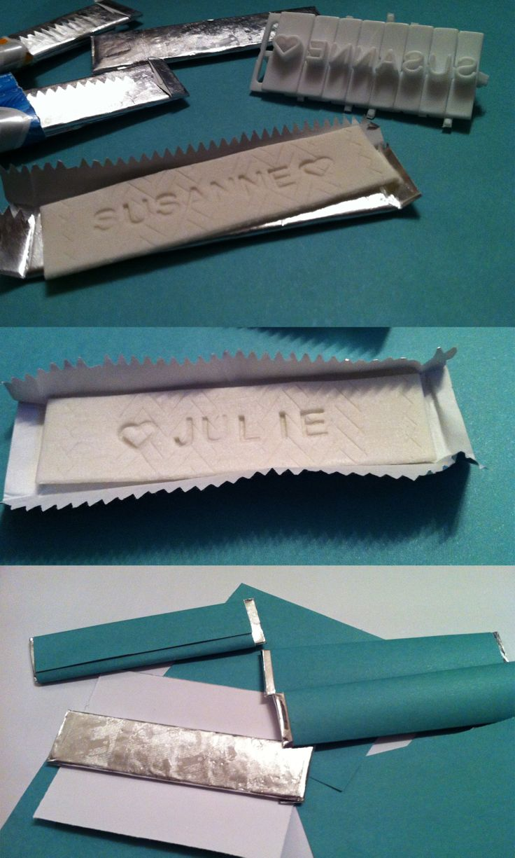 I customized different flavored chewing gums