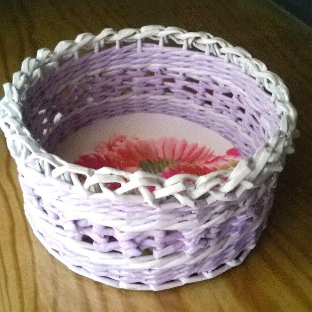 cesteria de papel.