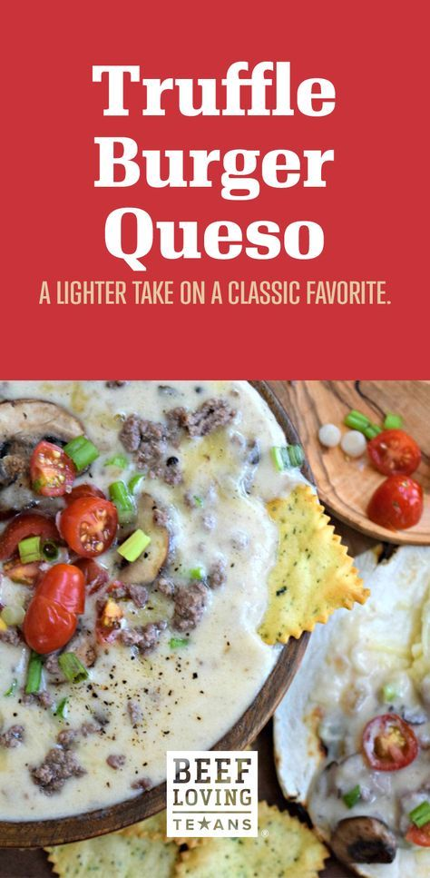 Looking for the MVP of your next tailgate or fall gathering? This recipe for Truffle Burger Queso is just that! Made with wholesome ingredients, this appetizer is lighter than other party snacks. Queso is a Texan love language, after all.