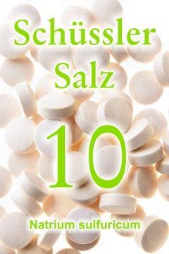 Erfahren Sie, wie das Schüssler Salz 10, Natrium sulfuricum, als Entwässerungsmittel wirkt, wie das Schüssler Salz Nr. 10 hilft, giftige Schlacken abzubauen ...