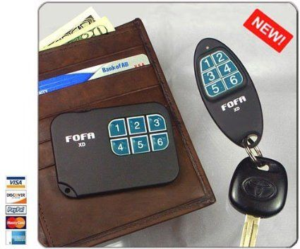 Amazon.com : 2-Way RF FOFA® Find One Find All® Key Finder and Flat Wallet, Cell Phone Locator : Key Tags And Chains : Electronics