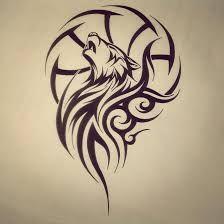 Resultado de imagen para tatto lobo tribal