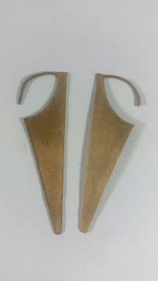 aretes en bronce -pmc- arcilla metalica