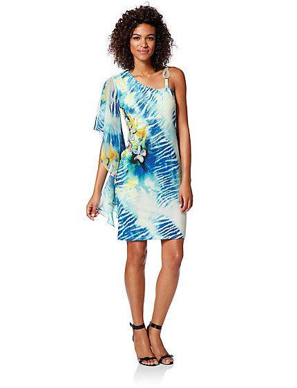 Koop Heine - Gedessineerde jurk wit/multicolour in de Heine online-shop