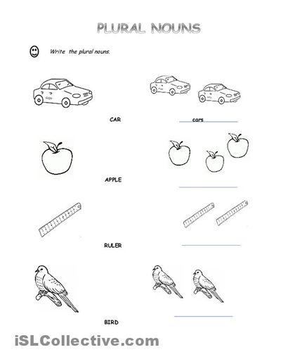 singular and plural nouns worksheets for kindergarten free household monthly budget template. Black Bedroom Furniture Sets. Home Design Ideas