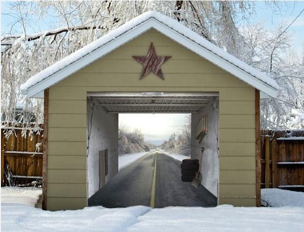 9 best garage door art images on pinterest