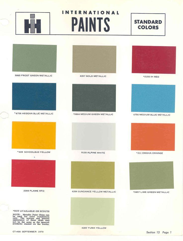 C A Ee De A E E A A Paint Charts International Harvester on 1972 Ih Scout Ii Custom