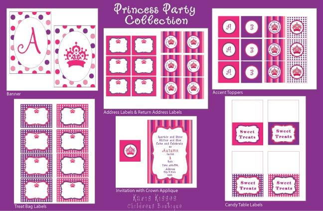 Karis Kisses Boutique Party Printables | Printables