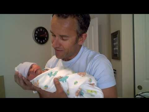 """How to Swaddle Your Newborn--This video uses the same technique from """"Happiest Baby on the Block"""""""