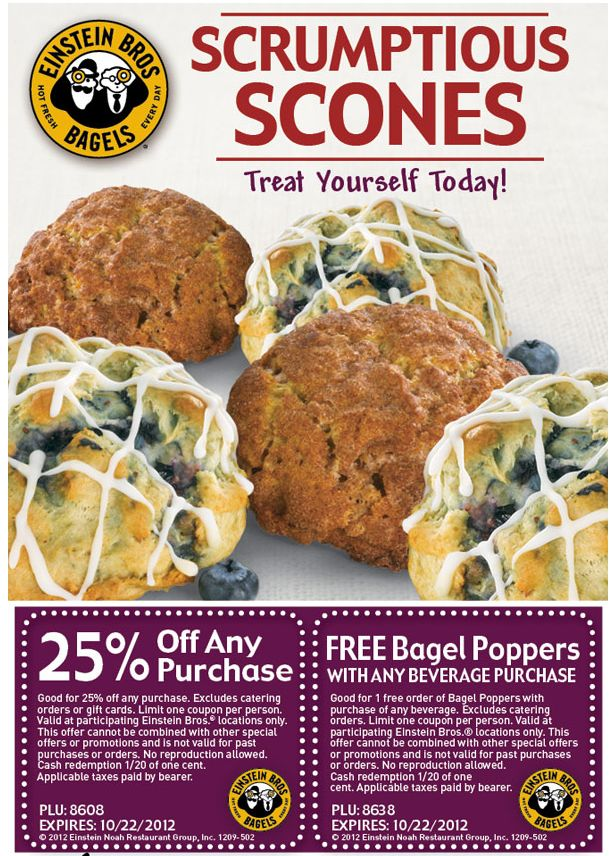 Einstein bagels coupons july 2018