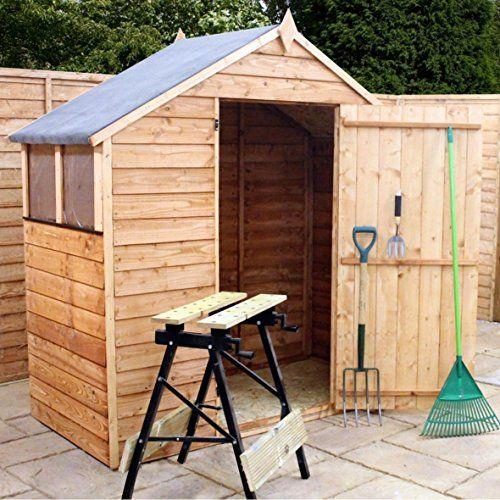 3x6 Overlap Wooden Shed ♦ Window ♦ Single Door ♦ Apex Roof & Felt ♦ Garden Sheds