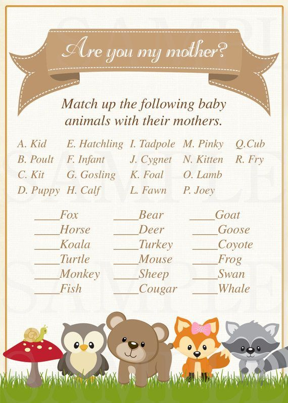 Babyshowerboy Animal Baby Shower Theme Baby Shower Woodland Theme Woodland Animal Baby Shower