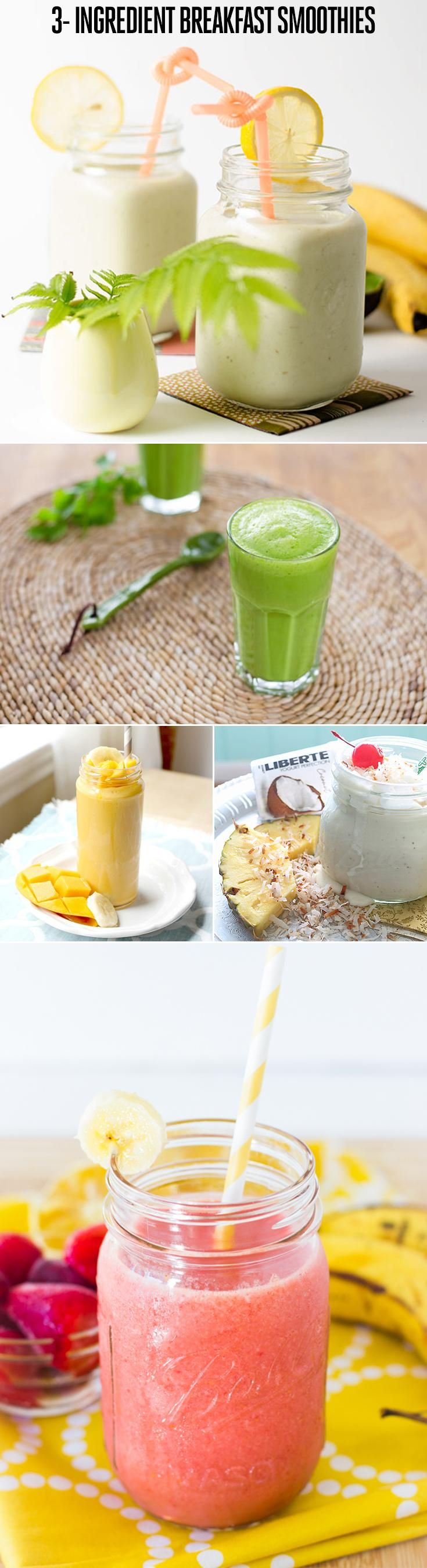 You'll never believe these delicious breakfast smoothies only have three ingredients in them...