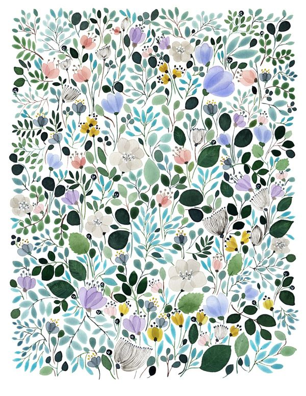 Morning Frost Meadow by Anna Emilia   |   http://www.theworkingproof.com/page?page_name=print_detail.html_id=108: Anna Emilia, Illustration, Emilia Laitinen, Frost Meadow, Design, Floral Pattern