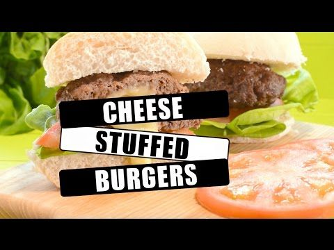 Homemade Cheese Stuffed Burgers | Charlotte's Lively Kitchen