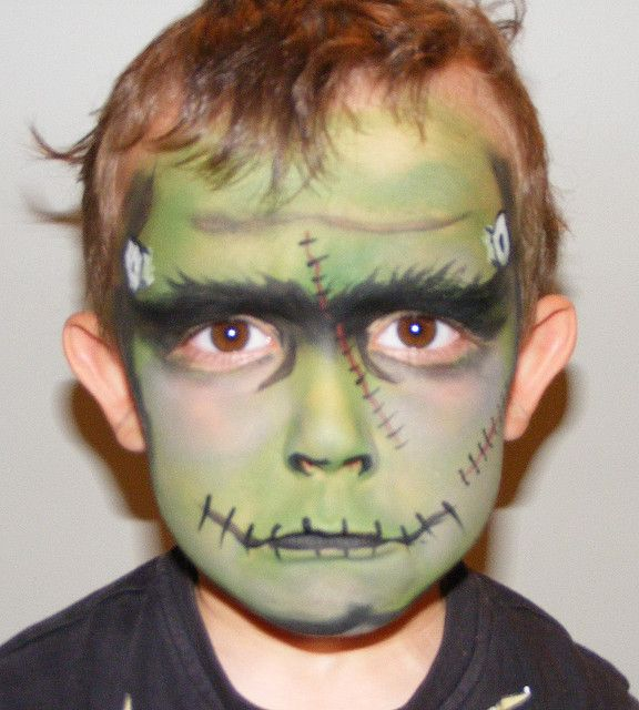 halloween  make up for men | Halloween make up - Frankenstein Face - Simple Halloween Make-Up Tips ...