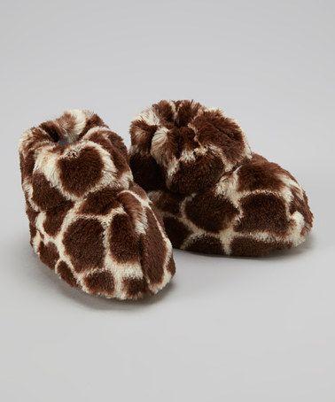 Look at this #zulilyfind! Cream & Brown Giraffe Paw Bootie by Two Flowers One Bear #zulilyfinds