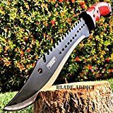 NEW-16-TACTICAL-HUNTING-SURVIVAL-RAMBO-FIXED-BLADE-MACHETE-KNIFE-Camping-Axe-Sword