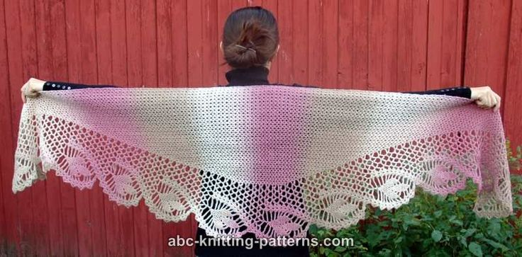 ABC Knitting Patterns - Dawn in the Woods Shawl