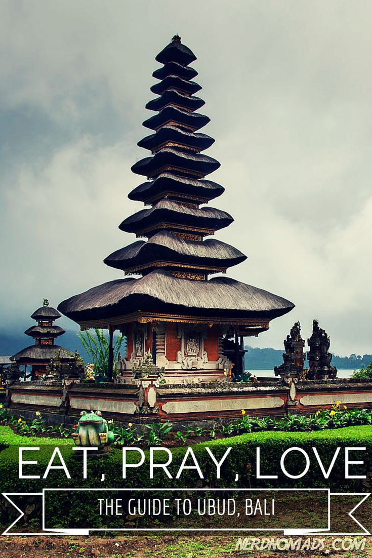 "Ubud is probably the place on Bali that has preserved it`s Balinese culture the most, and you can see and get a real feel of the true ""soul"" of Bali here. Here are the must-see and must-do things when heading to Ubud on Bali: http://nerdnomads.com/eat-pray-love-ubud-bali"
