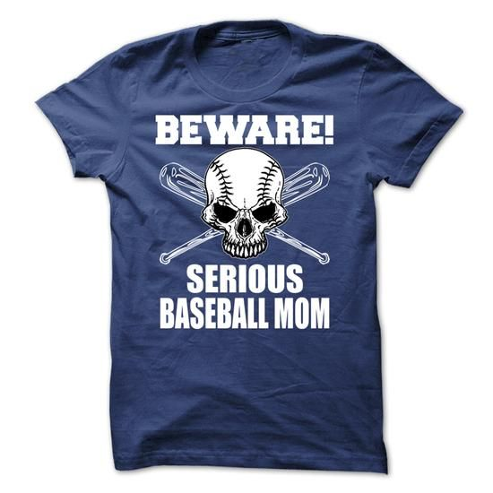 Beware Serious Baseball Mom - #gift for teens #appreciation gift. GET YOURS => https://www.sunfrog.com/Automotive/Beware-Serious-Baseball-Mom-26605697-Guys.html?id=60505