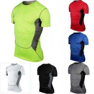 #Men Sports T Shirts Athletic Body Compression Under Layer Base Wear #T-Shirt #Tops
