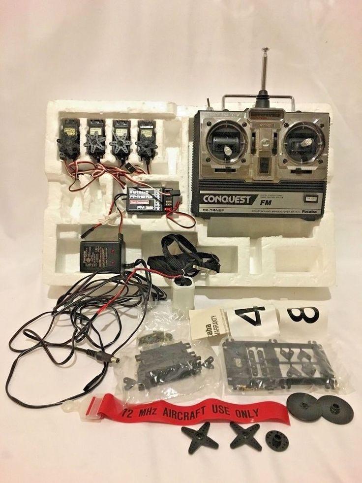 Futaba Conquest FP-4NBF FM Digital Radio Transmitter Receiver 4 ch 3 Servos.   | eBay
