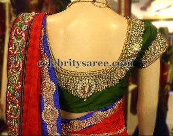 Sequins Kundan Work Saree Blouses