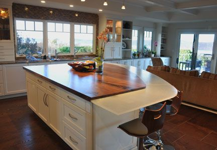 15 best images about glowing glass countertops on for Live edge kitchen island