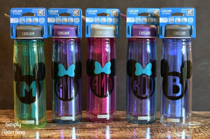 Follow along with this easy tutorial to create some fun personalized Disney water bottles. Perfect for any Disney vacation.