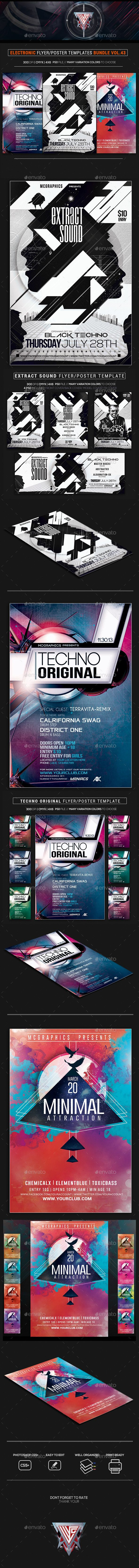 Electro Music Flyer/Poster Bundle Vol. 43 - #Flyers Print Templates Download here:  https://graphicriver.net/item/electro-music-flyerposter-bundle-vol-43/20106731?ref=alena994