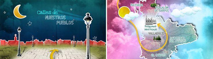 """Fulldome Diputación   Gráfica. Creatividad para stand de la Diputación de Valladolid en la Feria de Muestras 2011. Diseño de motion graphic adaptado para reproducir en formato """"fulldome"""". (Realizado para IlusaMedia)"""