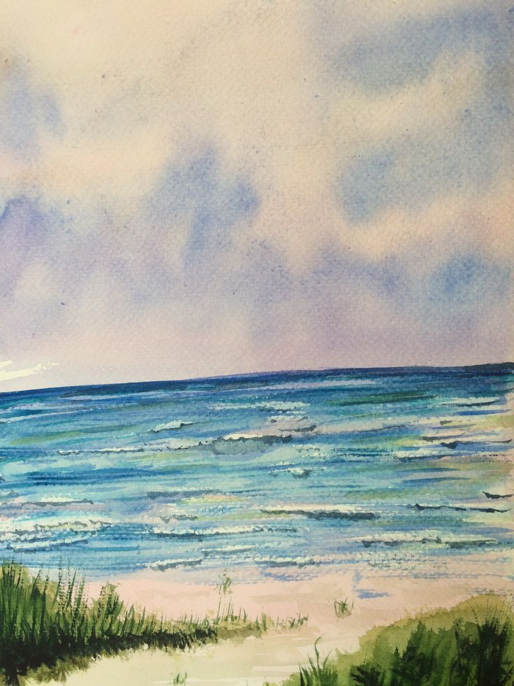My first watercolour of water!