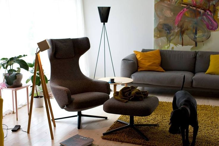 Vitra Grand Repos and Muuto Rest in Hallingdal fabric