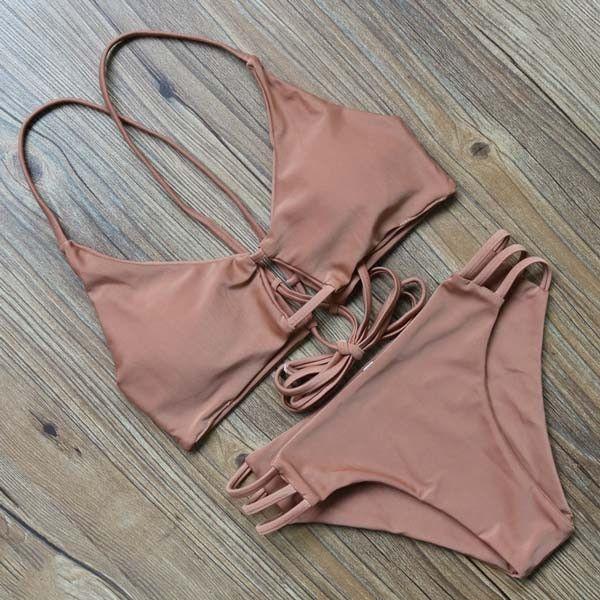 High Neck Tankini Set Swimwear