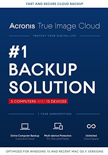Acronis True Image Cloud – 5 Computer, 15 Device [Old Version]