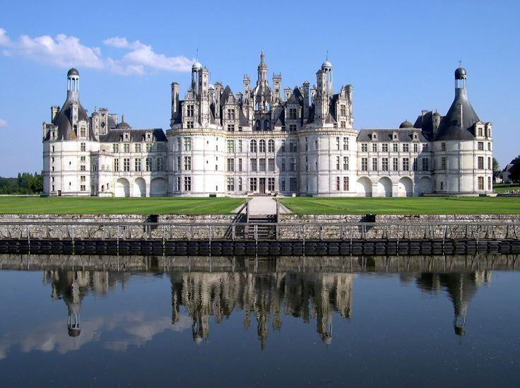 Castelo de Chambord, na rexión do Loira.