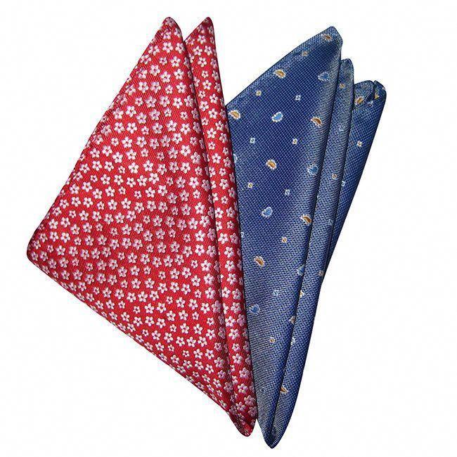 DMITRY Mens Italian Silk Fuchsia Patterned Tie